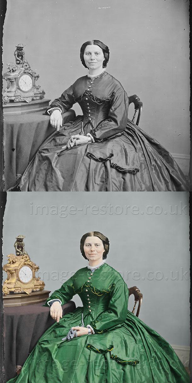 Clara Barton 1865 now in colour, old photos coloured bring history to life!