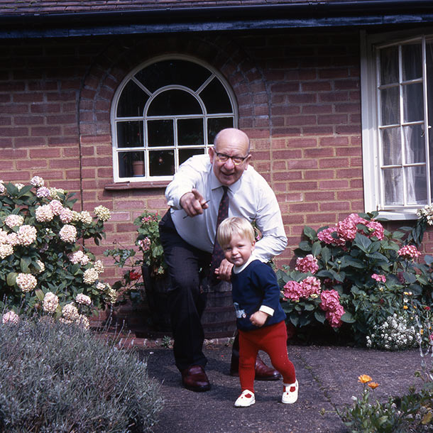Sydney William Johnson 1971 with his Grandson, Simon Rhodes