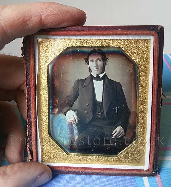 Newly dicovered Daguerreotype of young Abraham Lincoln. Shown to scale.