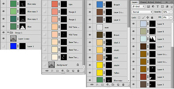 Colour Palette used to make the image