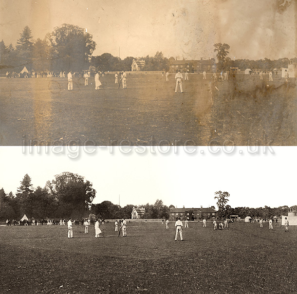 Cricketing scene United Kingdom but when? and where?