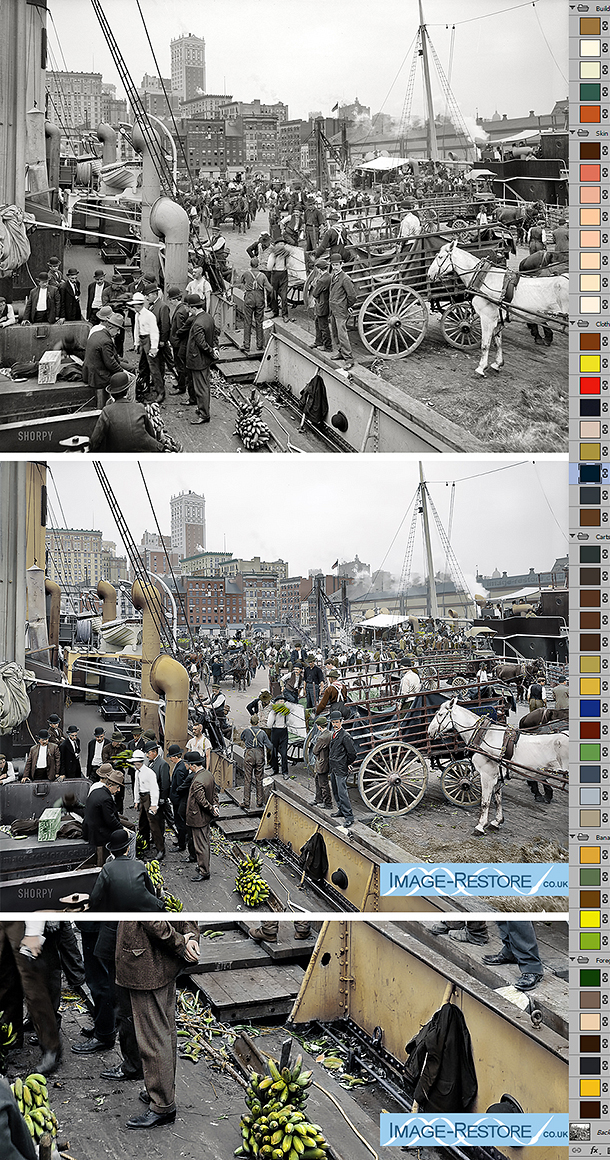 New York Docs 1905 digitally coloured by Neil Rhodes