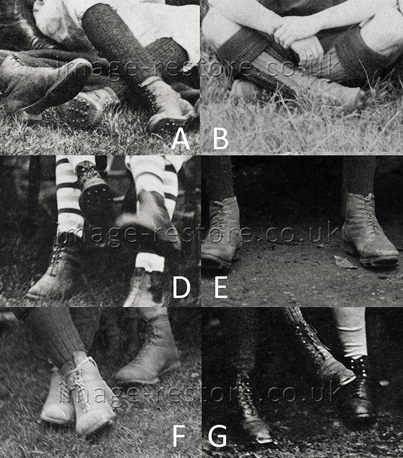 Football boots during 1870 1910