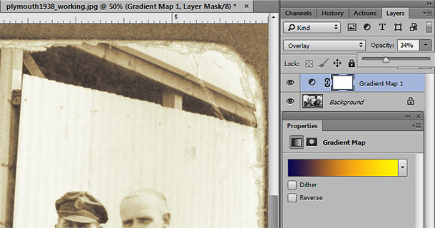 Tinting or Toning a photo with gradient map