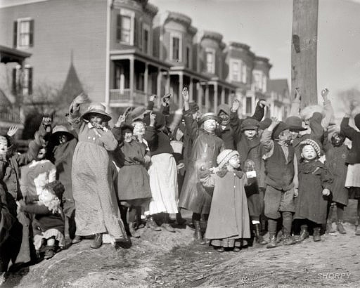 origins of halloween in old photos Washington DC 1911