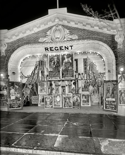 Halloween movie night Washing DC, October 1920.