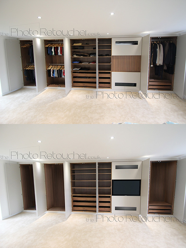 Interior retouching. Showing interior at their best