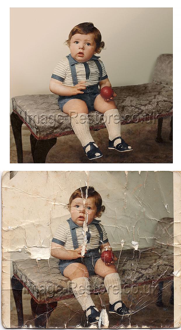 Old Polaroid Photo Restored