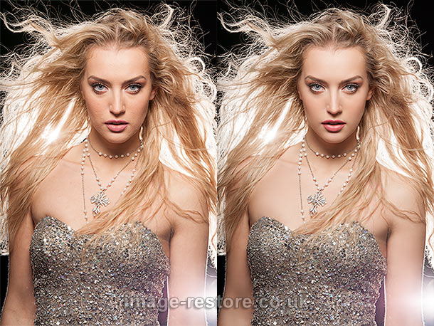 Photo restoration skills can be applied to photo retouching too