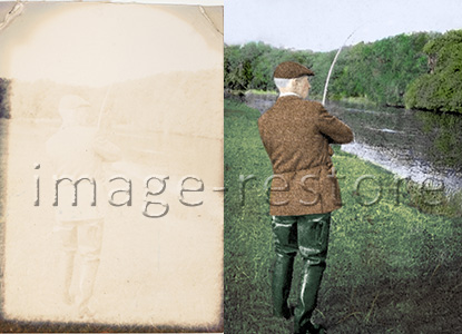 Major photo restoration of a colour fade. A lengthy process that can be challenging but most rewarding.