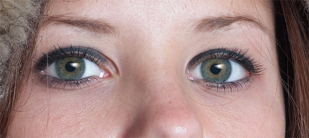Retouching eyes complete