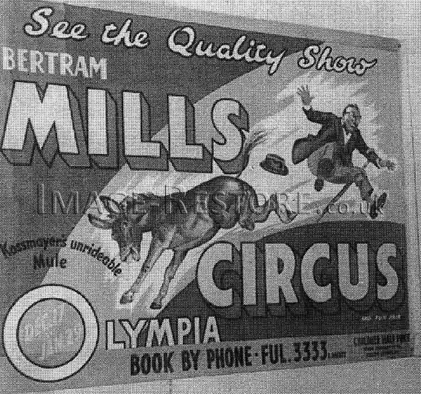 Vintage circus poster recreation before recreation
