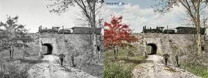 Coloured grade separation near Arlington New Jersey circa 1900