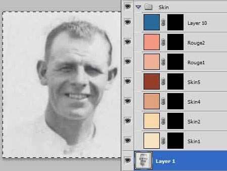 Colourising or tinting an old photo – Part 2