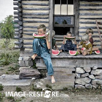 July 1939. Person County North Carolina digitally coloured - image source Shorpy.com
