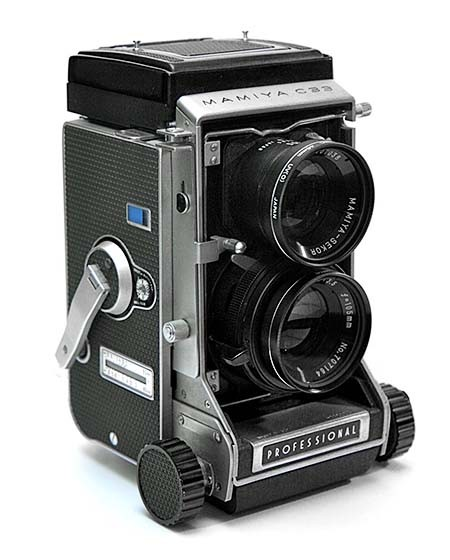 Mamiya C33 Medium Format camera that took me everywhere. A quirky camera with a bellows and quick change twin lens. Solidly built to break your back.