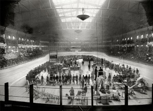 New York Dec 1908 Indoor cycling Madison Square Garden