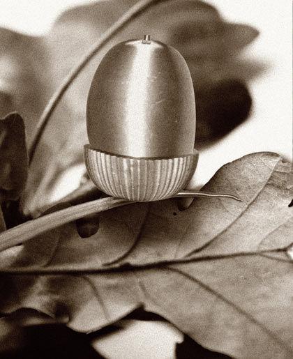 Acorn from brass object