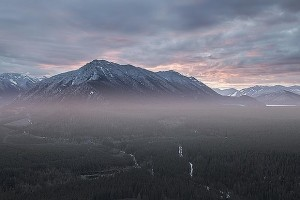 RAW photo processed for a sunrise with added morning mist.