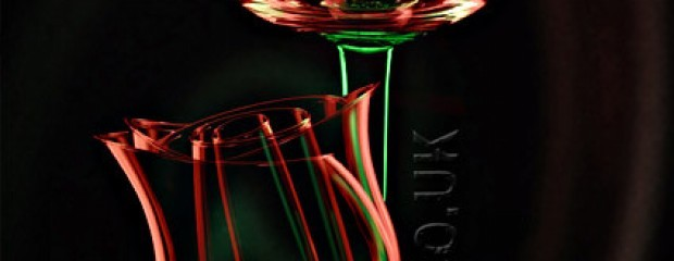 Rose made from brandy glasses in photoshop
