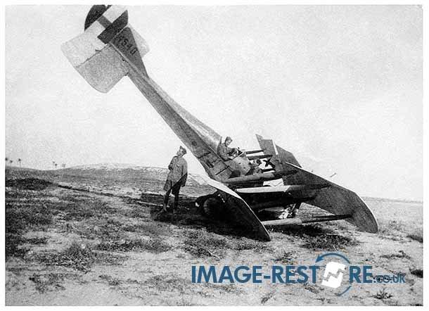 Royal Flying Corps Egypt Training crashed aircraft 4540