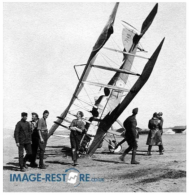 Royal Flying Corps dare devils in danger, accidents in the Desert