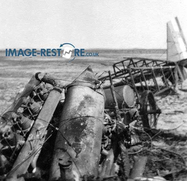 Royal Flying Corps Egypt engine of crashed aircraft