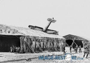 Royal Flying Corps Aircraft crashed into mess tent Egypt
