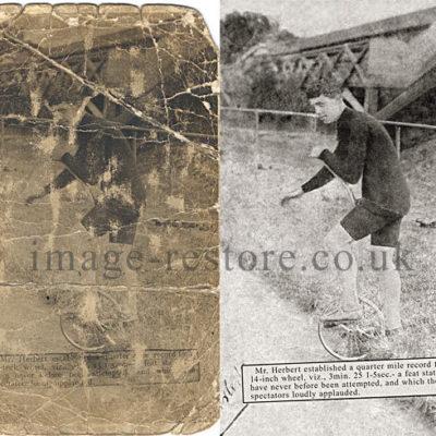 Unicycle photo restoration