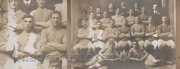Balliol Invicta Football Club 1910 before restoration