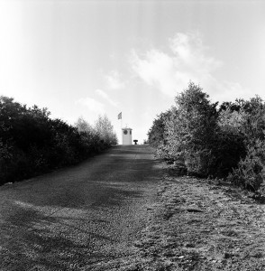 Bisley Ranges Clock Tower from Century Butts