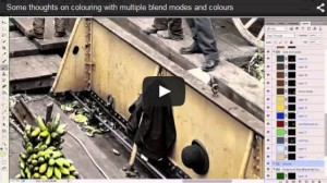 Video colouring a photo with blend modes