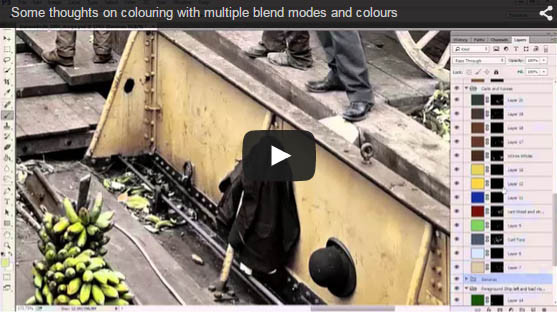 Colouring an image with multiple blend modes