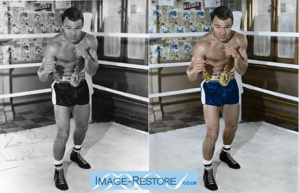Old boxing photo recoloured