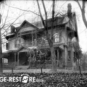 haunted house before retouching