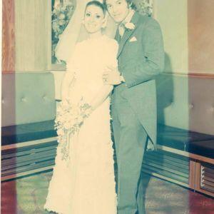 Wedding colour fade before