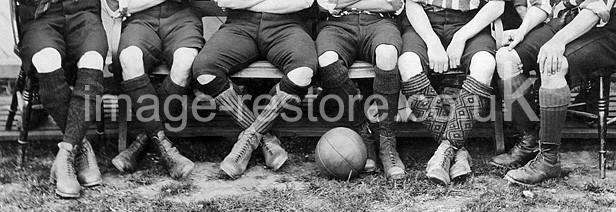 Clapton Football Club 1890 photo restoration