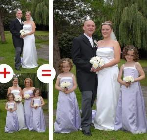 combining wedding photos