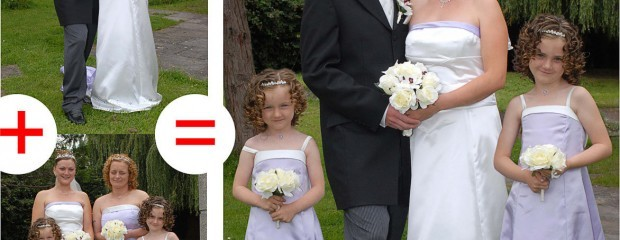 combining wedding photos