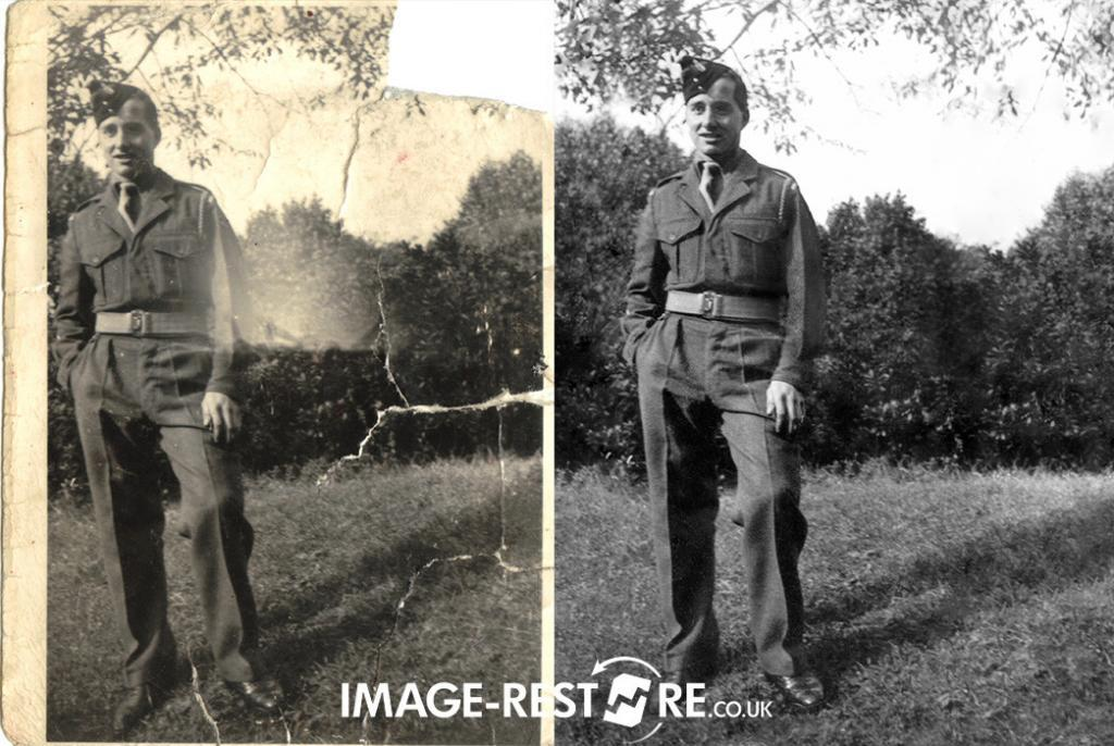 Restored and straightened photo