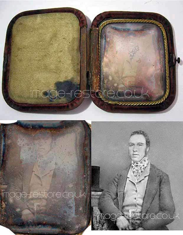 Daguerreotype photo restoration