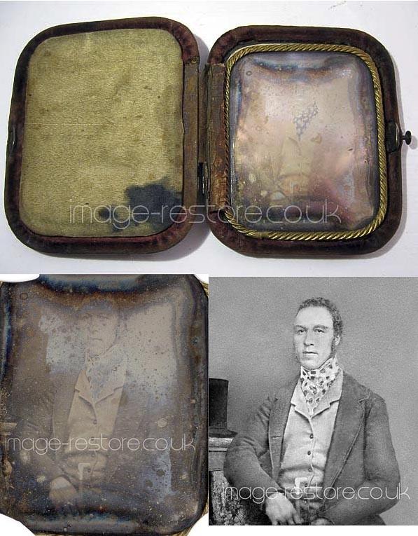 Daguerreotype restoration