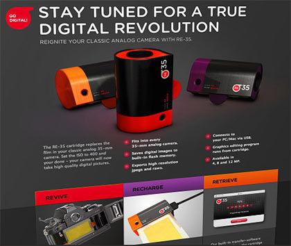 Digital film concept to convert you SLR to a digital camera