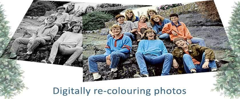 Digitally colouring old photos for Christmas
