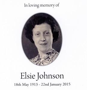 Elise Johnson, Headley, In loving memory