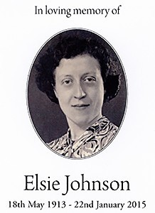 Elsie Johnson nee Pearce In loving memory