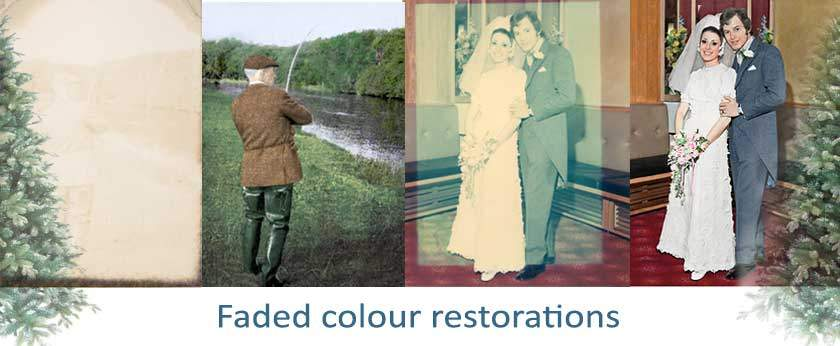 Restoring faded colour photos for Christmas