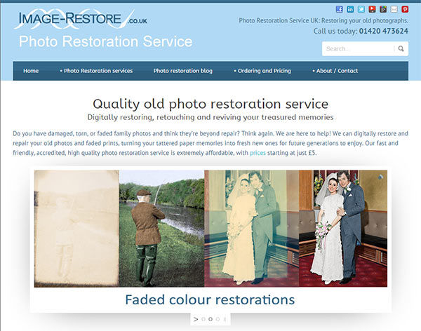 New photo restoration site goes live!