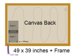 How to scan a 49 inch painting