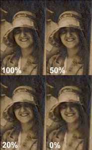 """JPEG setting from 100% to 0%"""""""